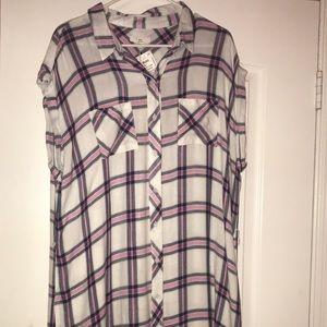 Knee length XL plaid dress